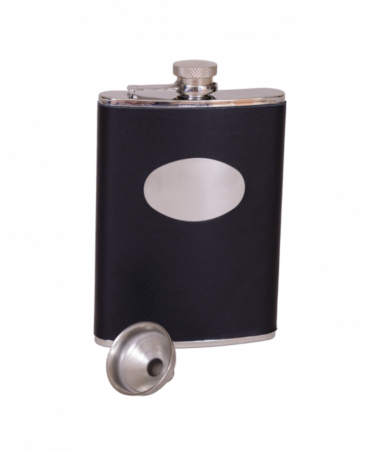 Leather Flask - Black