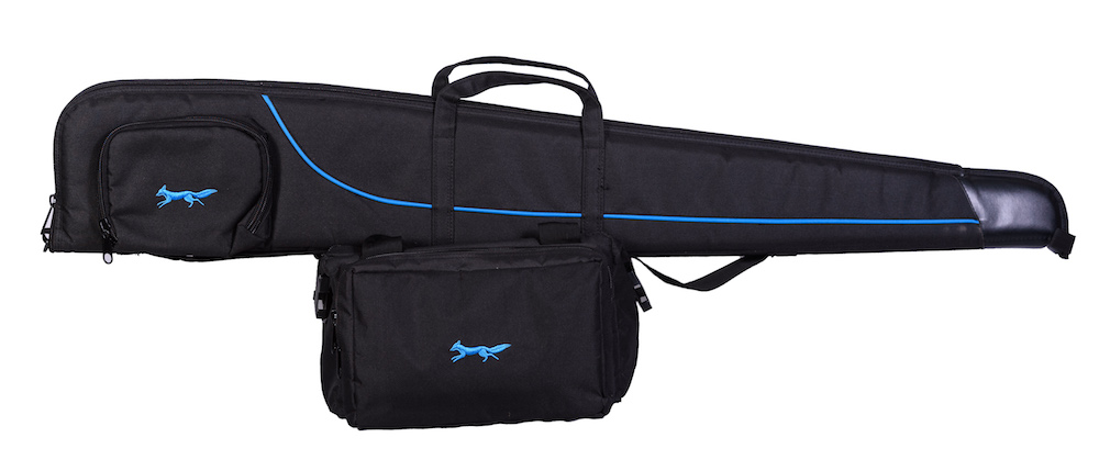 Shotgun Slip and range bag in Black/Royal
