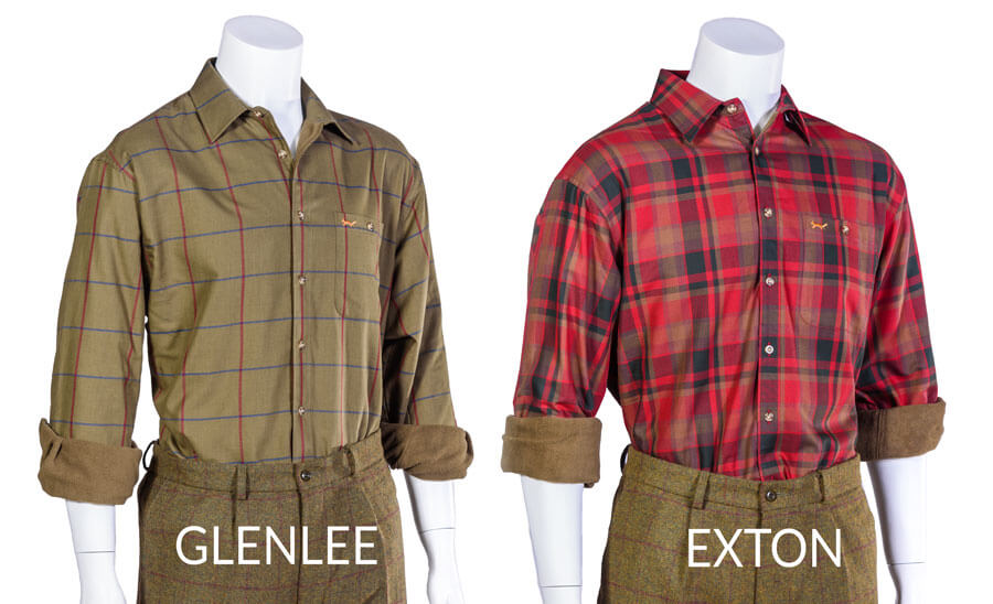 Glenlee and Exton Fleece shirts