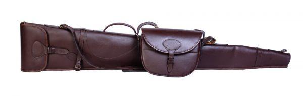 Bonart Leather Shotgun Slip and cartridge bag