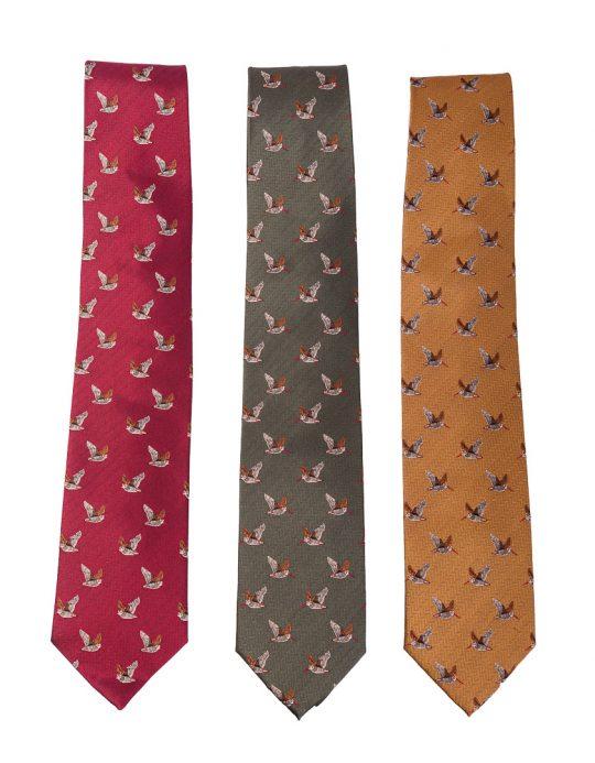 Bonart silk woodock tie